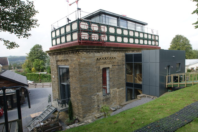 Settle Station Water Tower - rear view