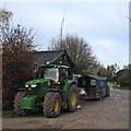 TL4644 : Tractors at College Farm by John Sutton