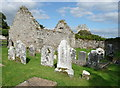 S3227 : Ruined building in the churchyard east of Kilcash church by Humphrey Bolton