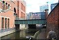 SJ8497 : Footbridge, Rochdale Canal by N Chadwick