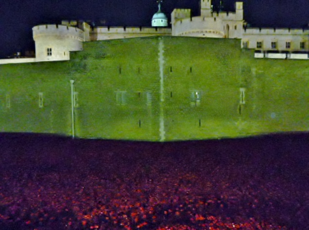 Walls, turrets and poppies, Tower of London