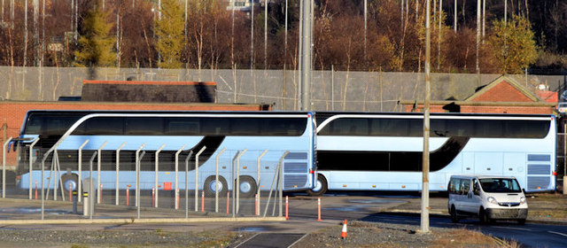 André Rieu-liveried coaches, George Best Belfast City Airport (December 2014)