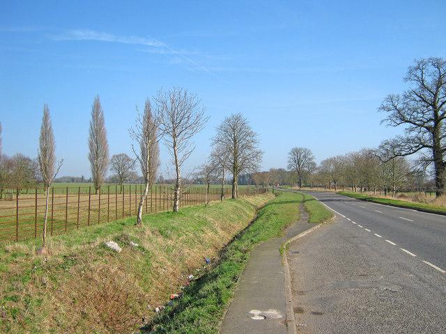 The A155 near St Scythes