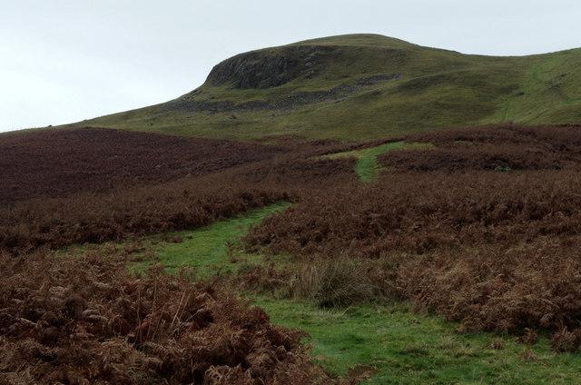 Path below Llandegley Rocks