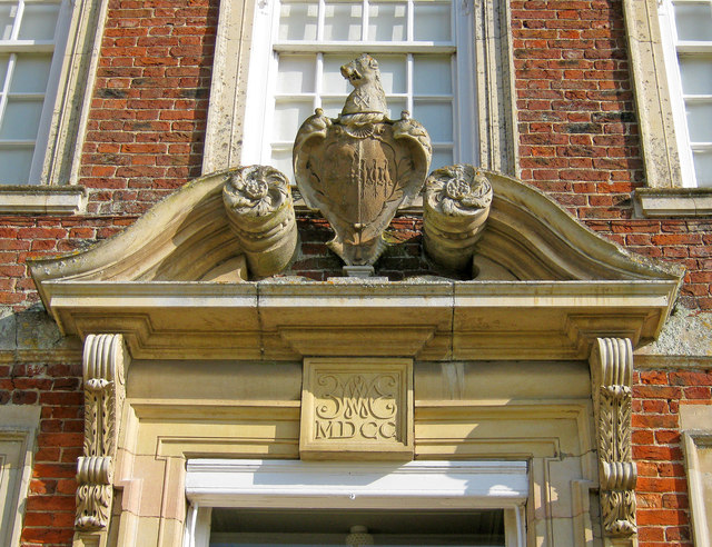 Detail at the Entrance to Gunby Hall