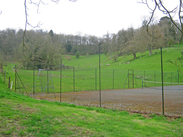 Tennis Court at Old Colwall House