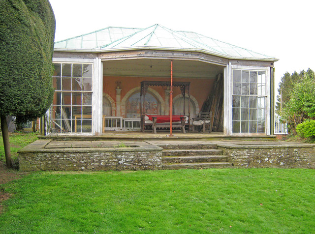 Summerhouse in Old Colwall House Gardens
