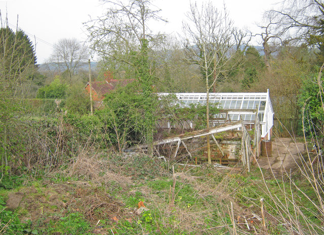 Trio of Greenhouses at Old Colwall Garden