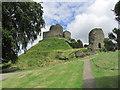 SX3384 : Launceston - View up to Castle Keep by Colin Park