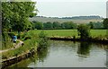 SJ9481 : Canal and pasture east of Wood Lanes, Cheshire by Roger  Kidd