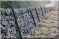 SD9824 : Dry stone wall alongside Dick's Lane, Erringden by Phil Champion
