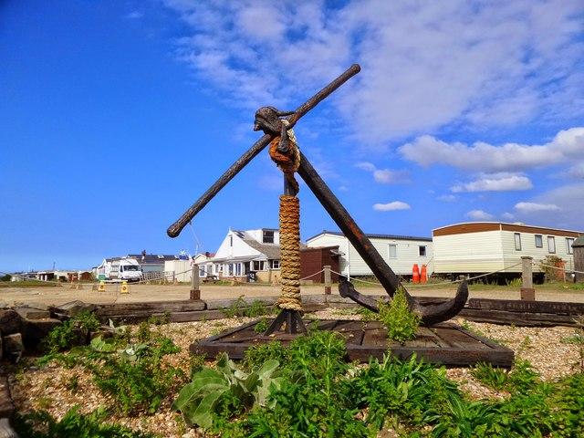Anchor near beach