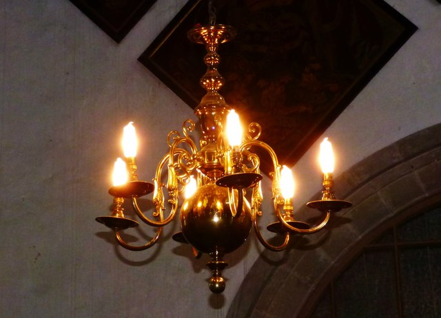 Brass lamp holder, St. Margaret's, Buxted