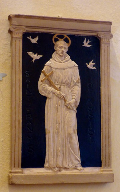 Wall statue, St. Peter's, East Blatchington