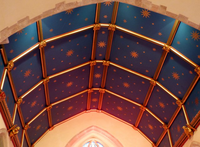 Chancel ceiling, St. Peter's, East Blatchington
