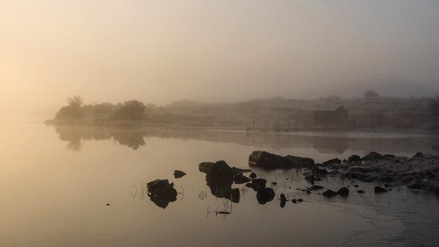 Misty morning, Clugston Loch
