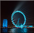 TQ3079 : London Eye in Pale Blue, London SE1 by Christine Matthews