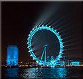 TQ3079 : London Eye in Pale Blue, London SE1 : Week 52