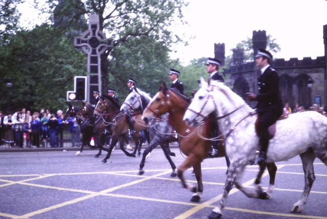 Mounted police on Princes Street