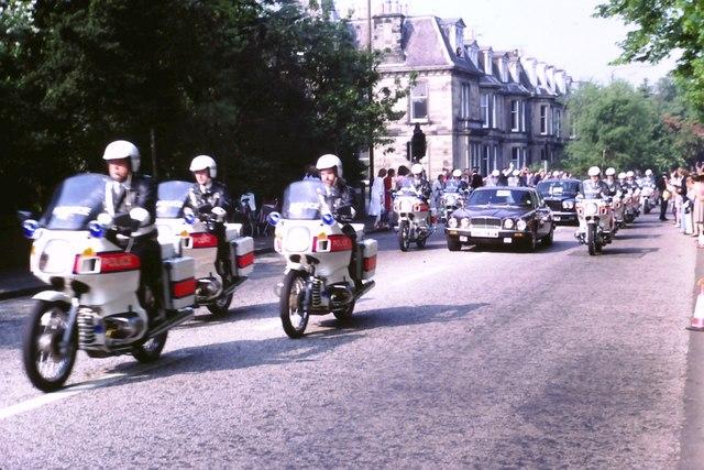 John Paul II motorcycle escort, Greenhill Gardens