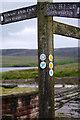 SD9431 : Pennine Bridleway signpost at Gorple Lower Reservoir by Phil Champion