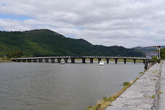Toll bridge at Penmaenpool