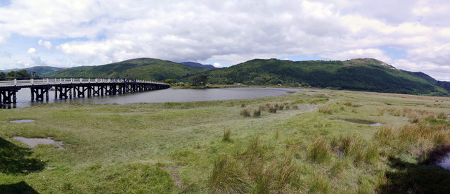 The Afon Mawddach upstream of Penmaenpool Bridge
