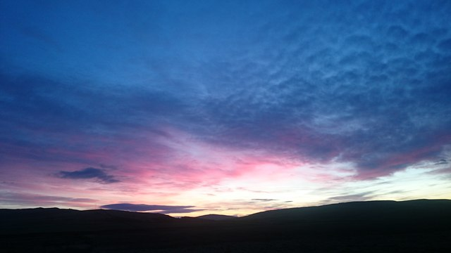 Sunrise, from Grimeston Rd, Harray, Orkney