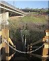 SX8866 : Gauging station on Aller Brook by Derek Harper