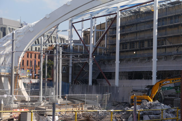 New roof under construction at Manchester Victoria