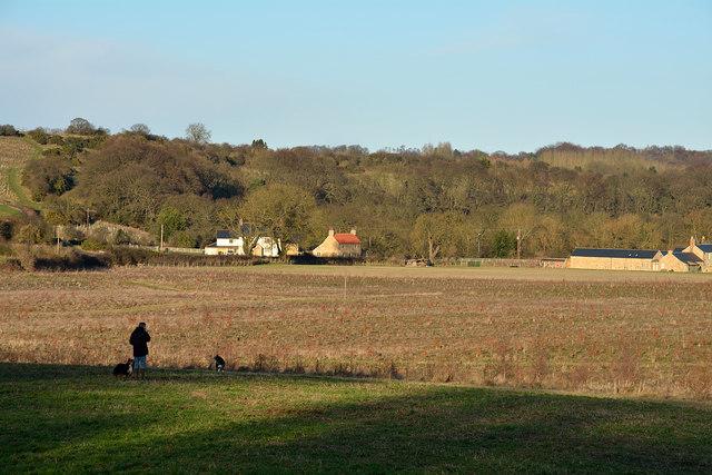 Access land close to Durham city