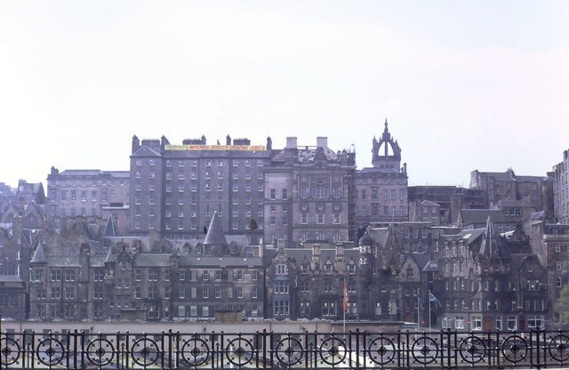 Old Town seen from the old Waverley Market (1985)