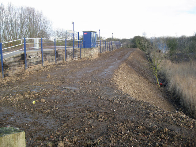 Flood Bank Renovation Works at Barrow Haven Station