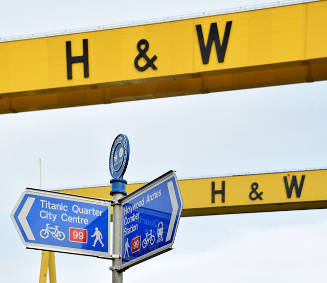National Cycle Network signs, Belfast (January 2015)