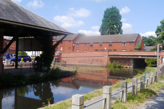 Canal wharf and basin near Severn Street, Welshpool