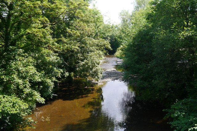 The River Rhiw, downstream of the Berriew Aqueduct