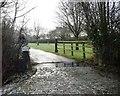 SJ4764 : Entrance to Guy Lane Farm by Christine Johnstone