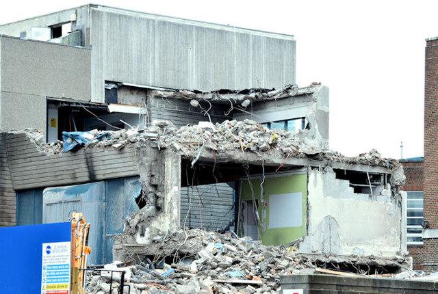 The Bernard Crossland Building (demolition), Belfast - January 2015(2)