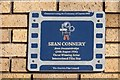 Photo of Sean Connery film cell plaque