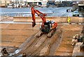 SD3033 : Sea defence work by Gerald England