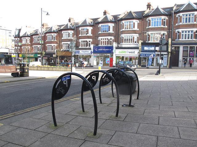Cycle stands, Beddington Gardens, Wallington