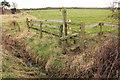 SJ4450 : Stile and ditch near Castletown  by Jeff Buck
