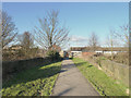 SD5203 : Footbridge over railway at Orrell by Gary Rogers