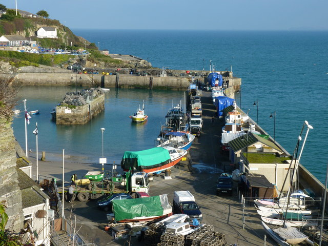 Newquay harbour from the road above