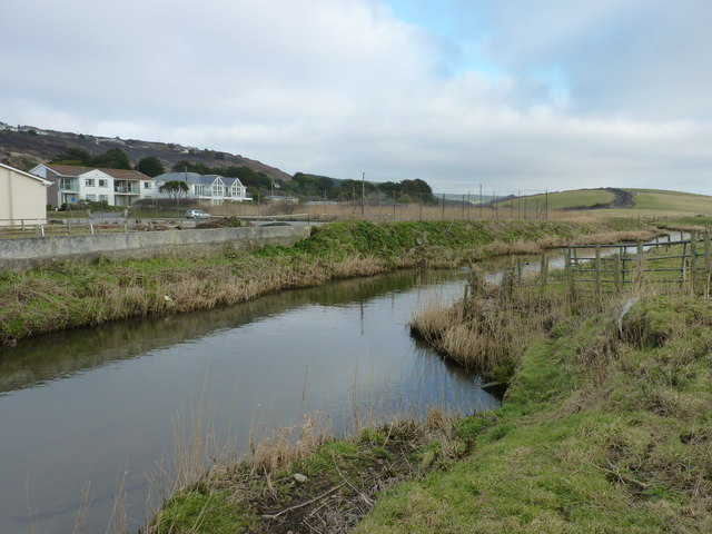 The River Menalhyl upstream from Mawgan Porth