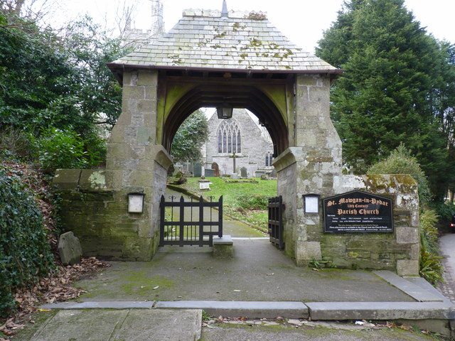 Lych gate at the church of St Mawgan-in-Pydar, St Mawgan