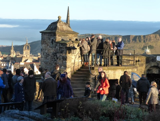 Edinburgh Castle visitors