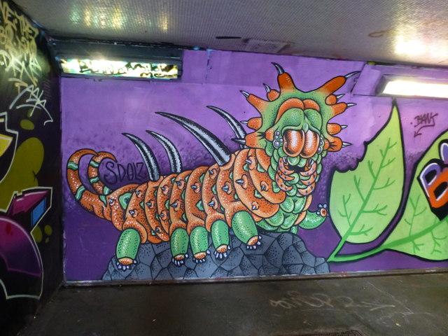 An example of graffiti in the subway at Old Market Street, Bristol