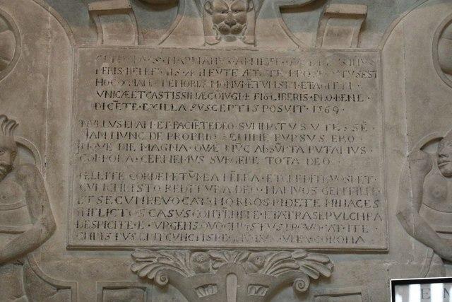 Inscription on Harman's Memorial
