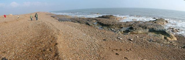 Clay outcrop on beach near Shingle Street